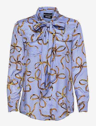 Boutique Moschino BLOUSE - långärmade blusar - light blue fantasy print