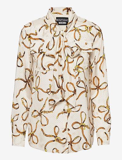 Boutique Moschino BLOUSE - långärmade blusar - ivory fantasy print