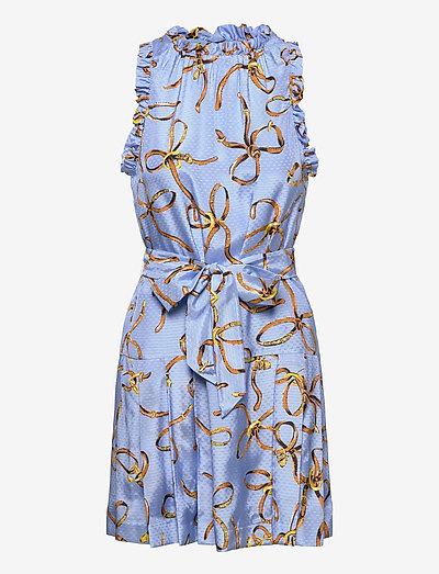 Dress - party dresses - light blue fantasy print