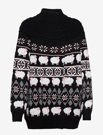 Long Sweater - polotröjor - fantasy print black