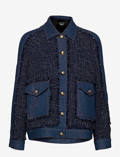 Long Jacket - jeansjackor - blue fantasy print