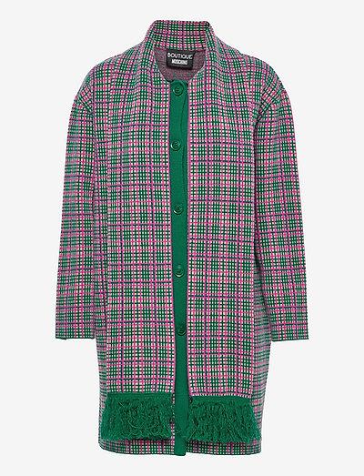 Long Jacket - ullkappor - fantasy print green