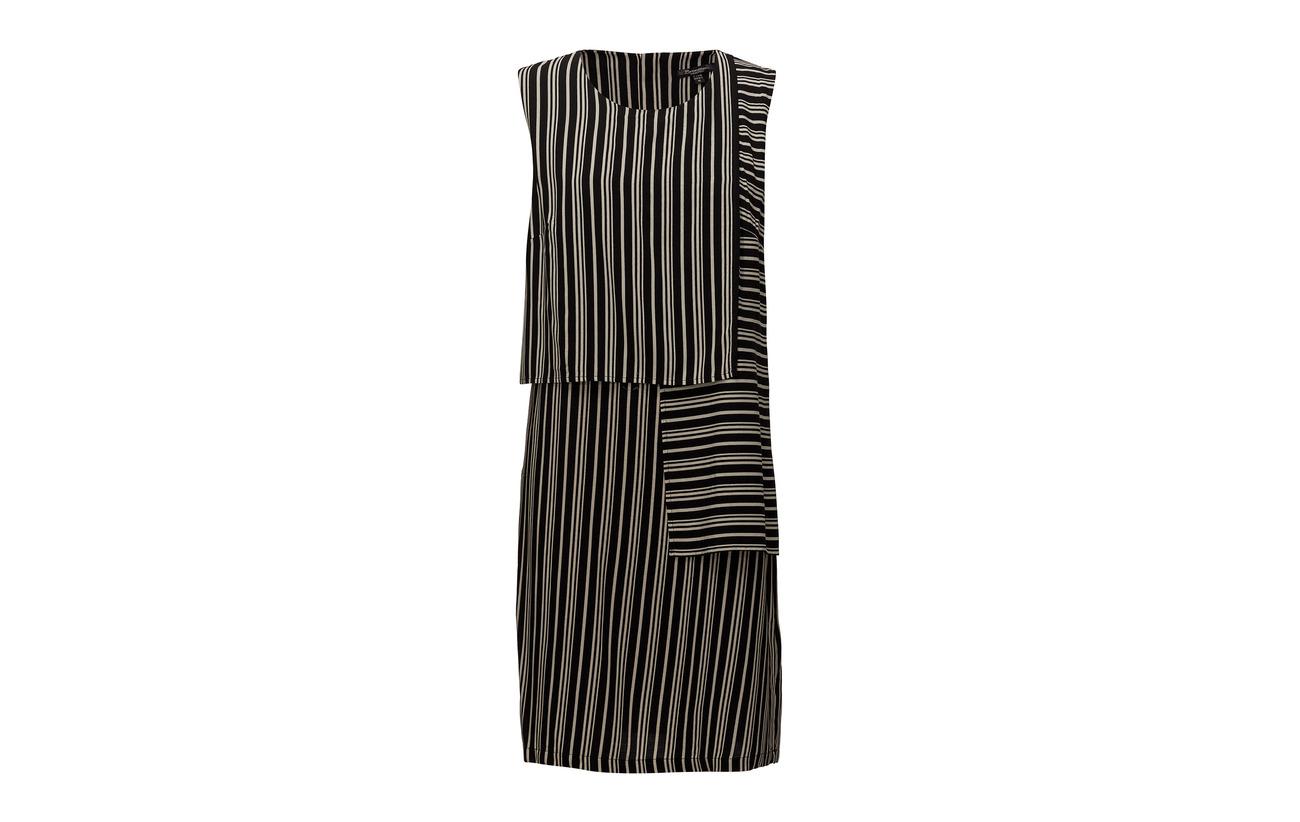 100 Dress Brandtex light Viscose Woven Black SFWaWOq