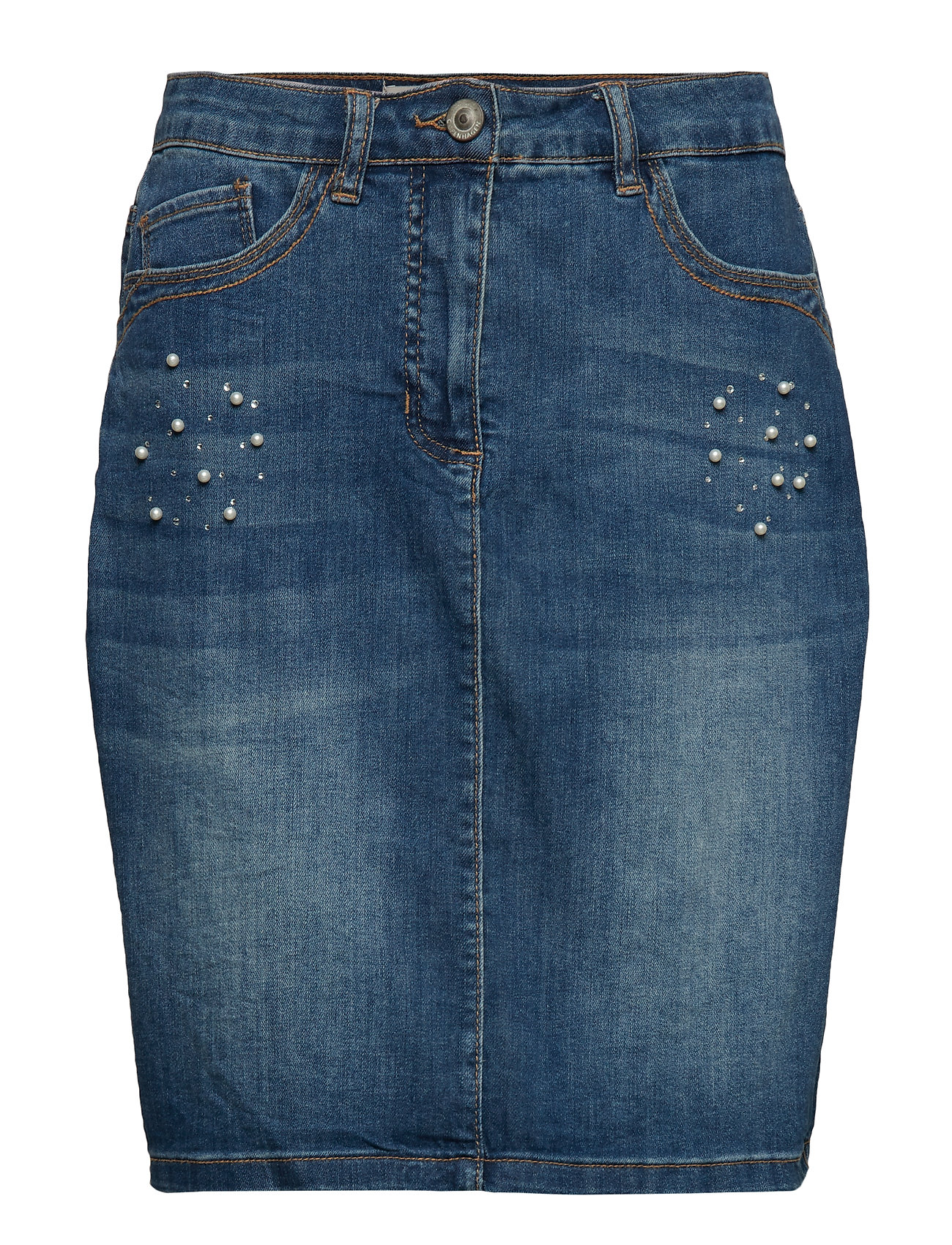 Brandtex Skirt-denim - WASHED DENIM BLUE