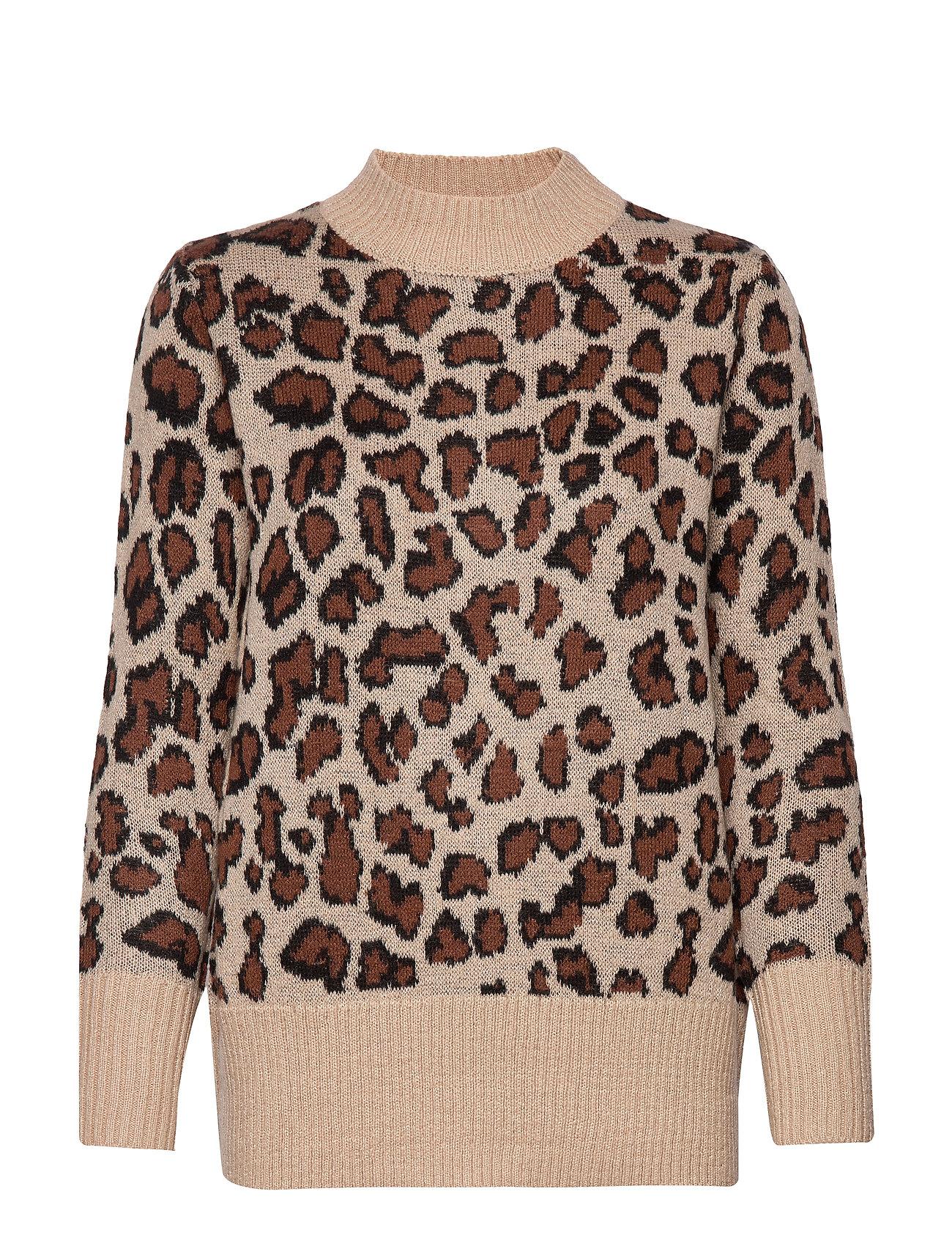 Brandtex Pullover-knit Heavy - LEOPARD BROWN