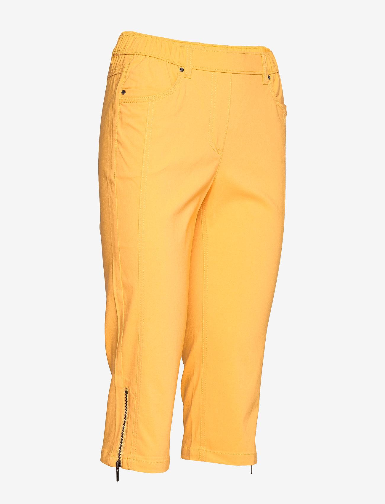 Brandtex Capri pants - Spodnie YOLK YELLOW - Kobiety Odzież.