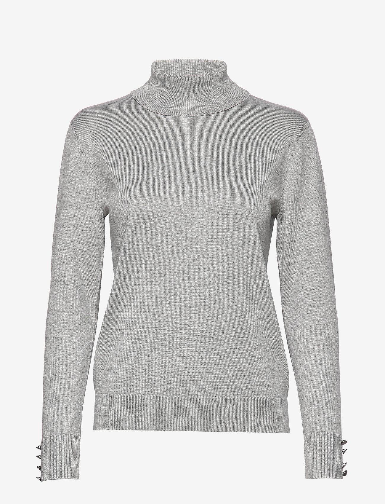 Brandtex - Pullover-knit Light - turtlenecks - light grey melange - 0