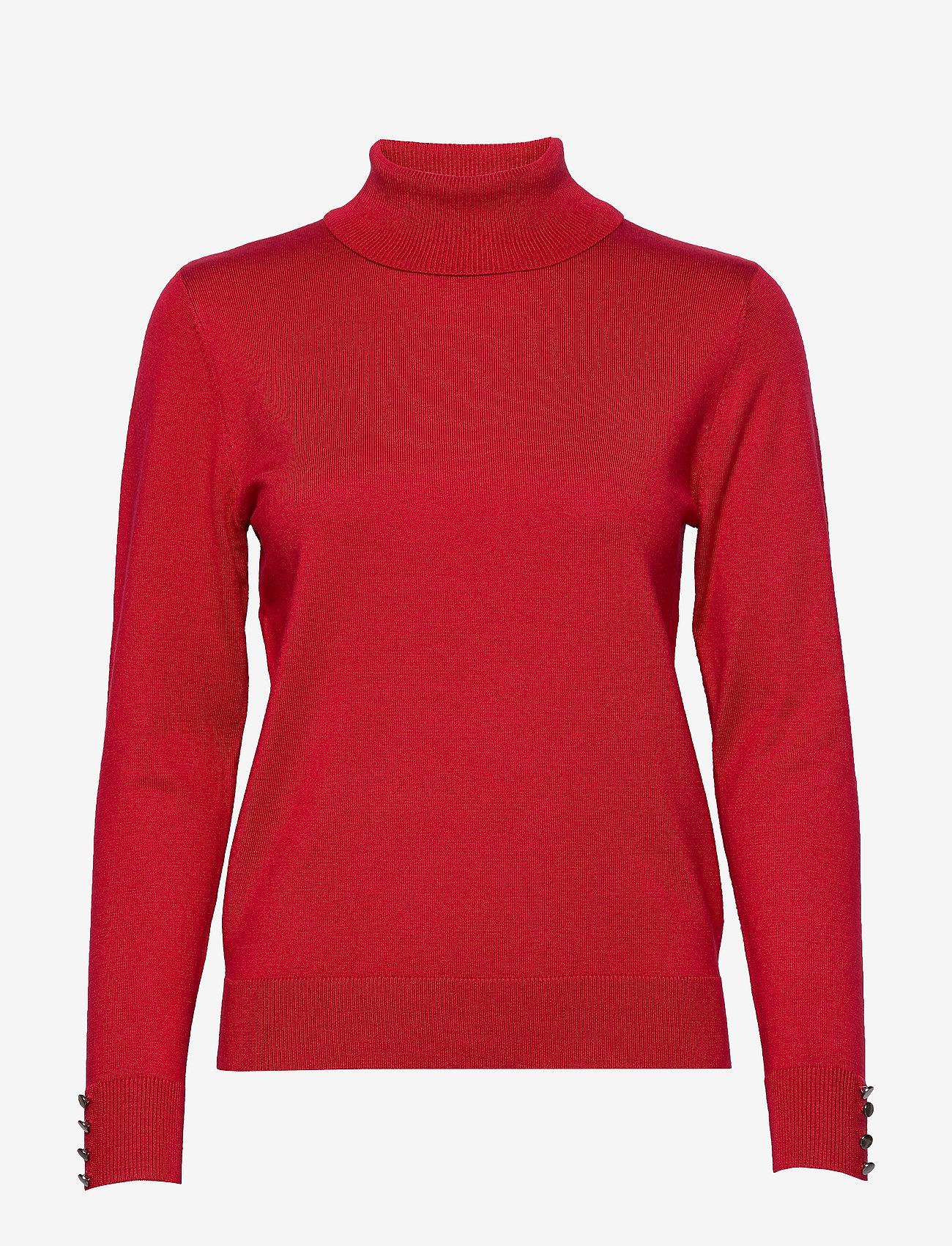 Brandtex - Pullover-knit Light - turtlenecks - red - 0