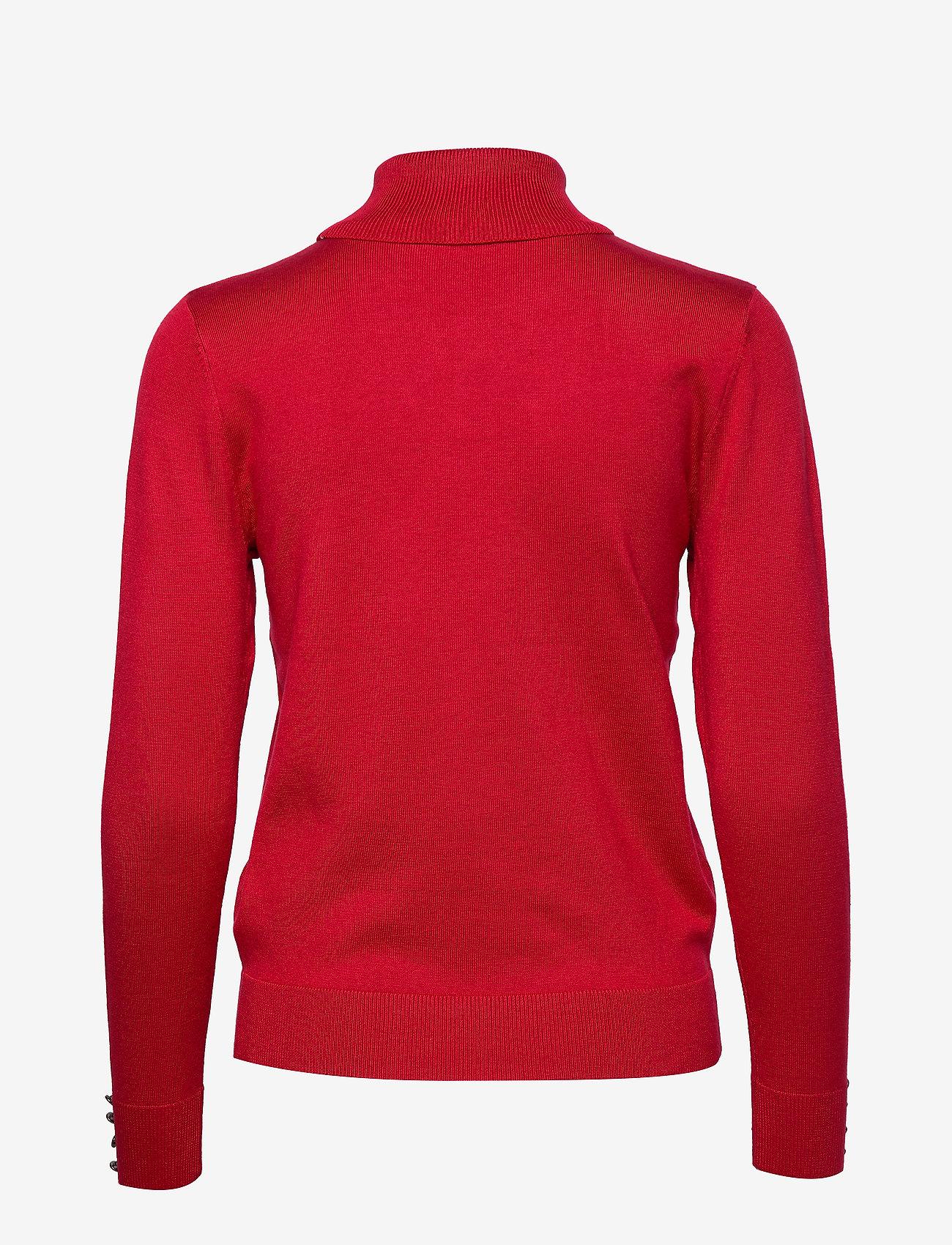 Brandtex - Pullover-knit Light - turtlenecks - red - 1