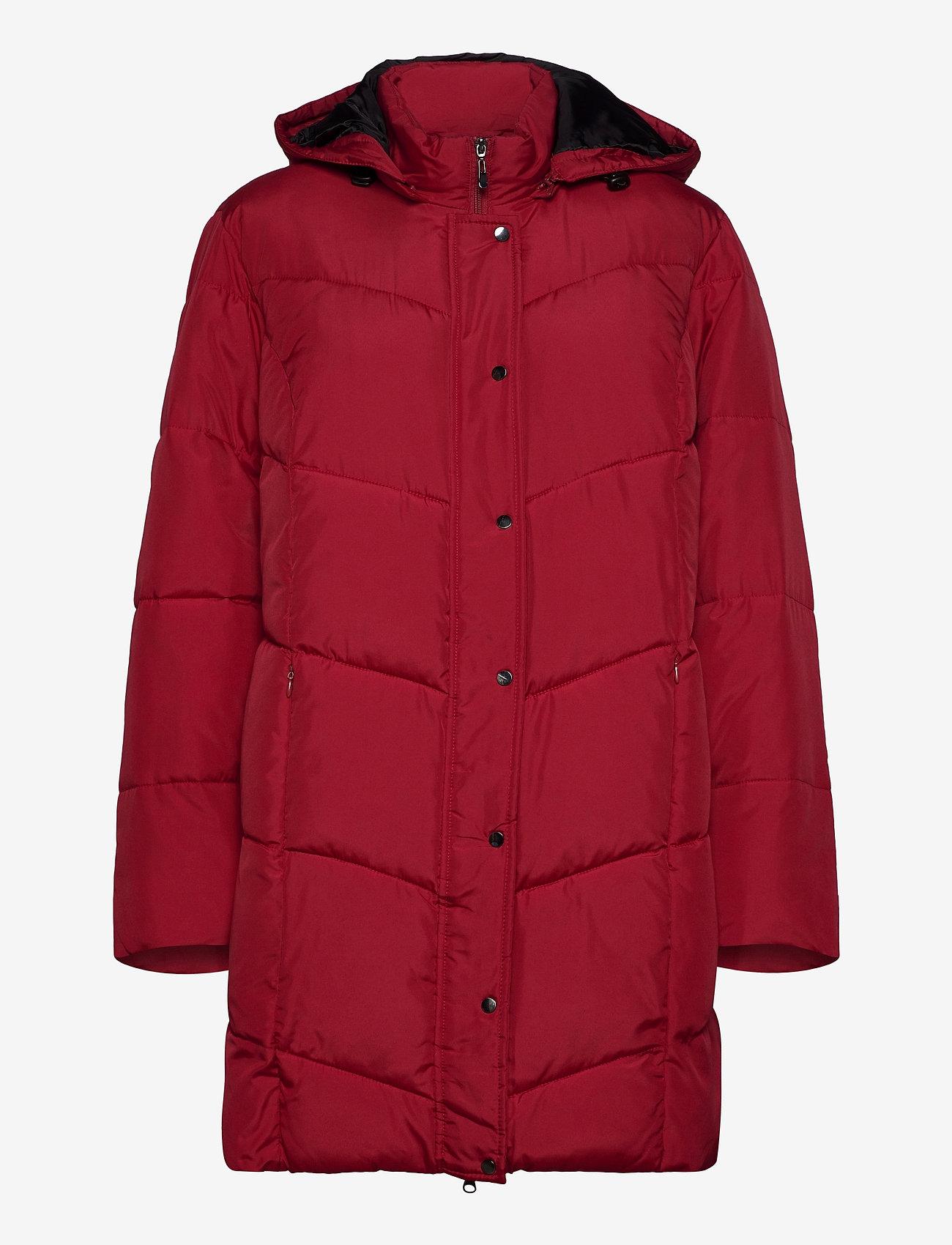 Brandtex - Coat Outerwear Heavy - dynefrakke - red - 1