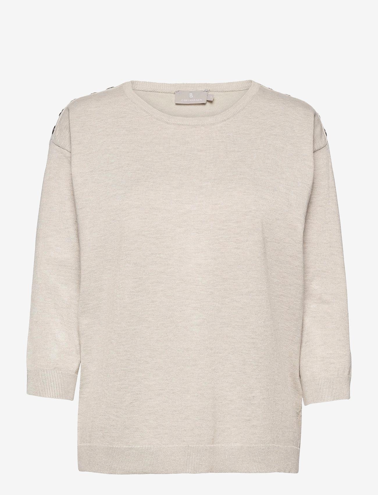 Brandtex - Pullover-knit Light - trøjer - desert melange - 0