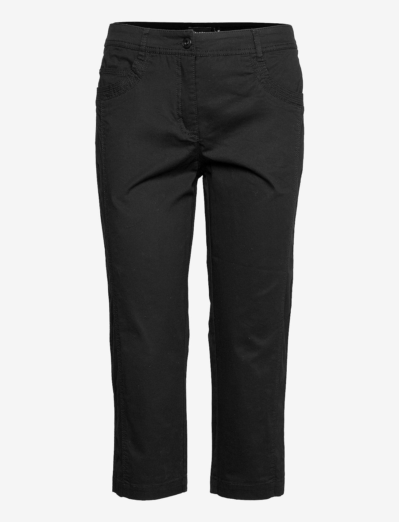 Brandtex - Capri pants - pantalons capri - black - 0