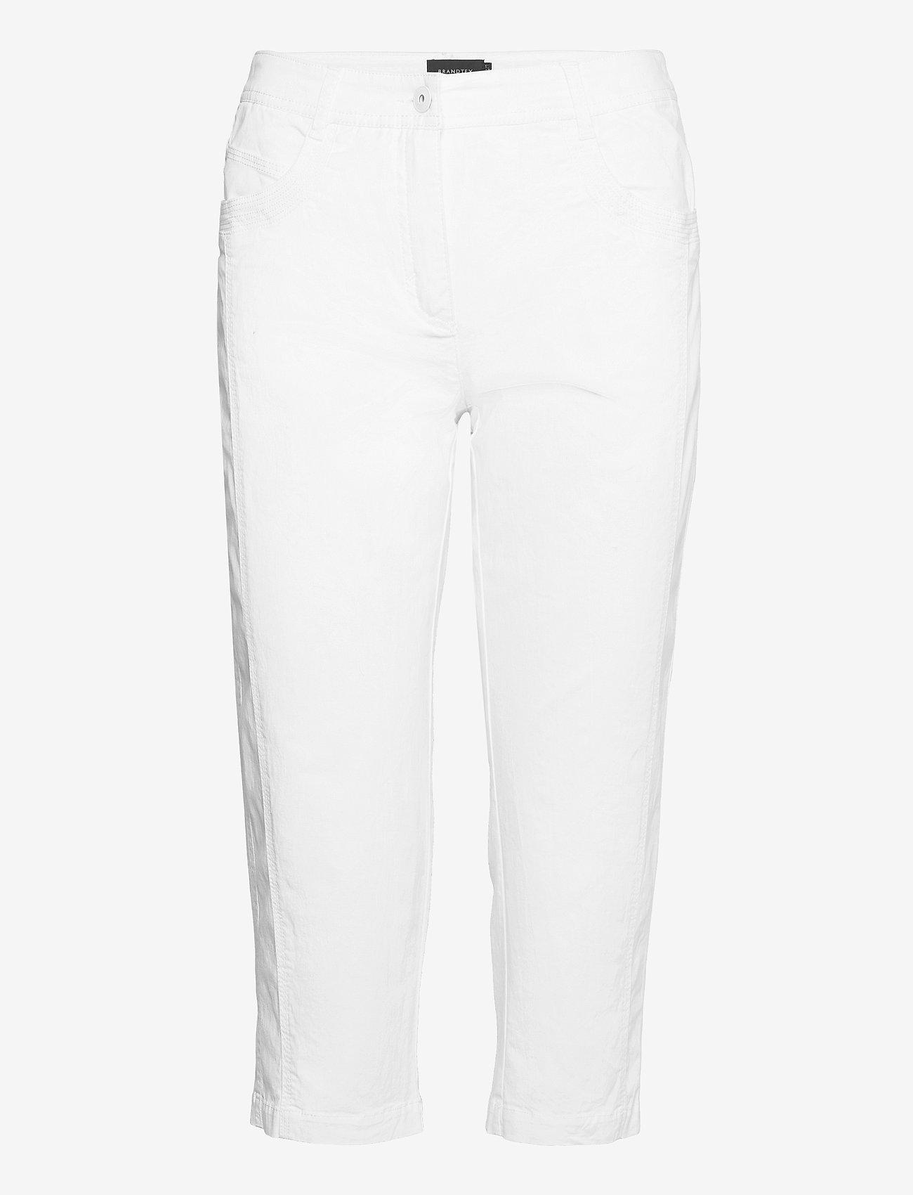 Brandtex - Capri pants - capri bukser - white - 0