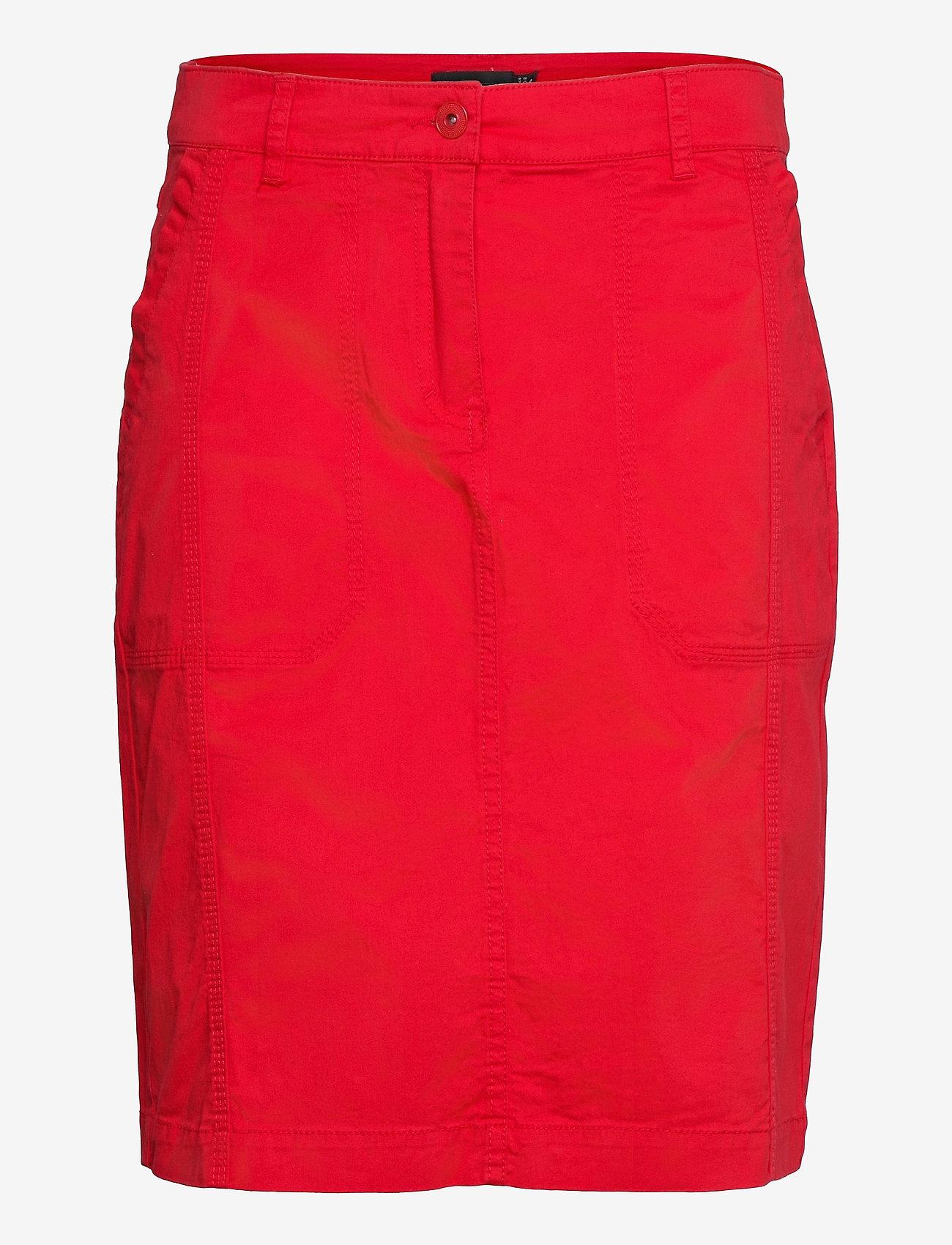 Brandtex - Casual skirt - midinederdele - racing red - 1
