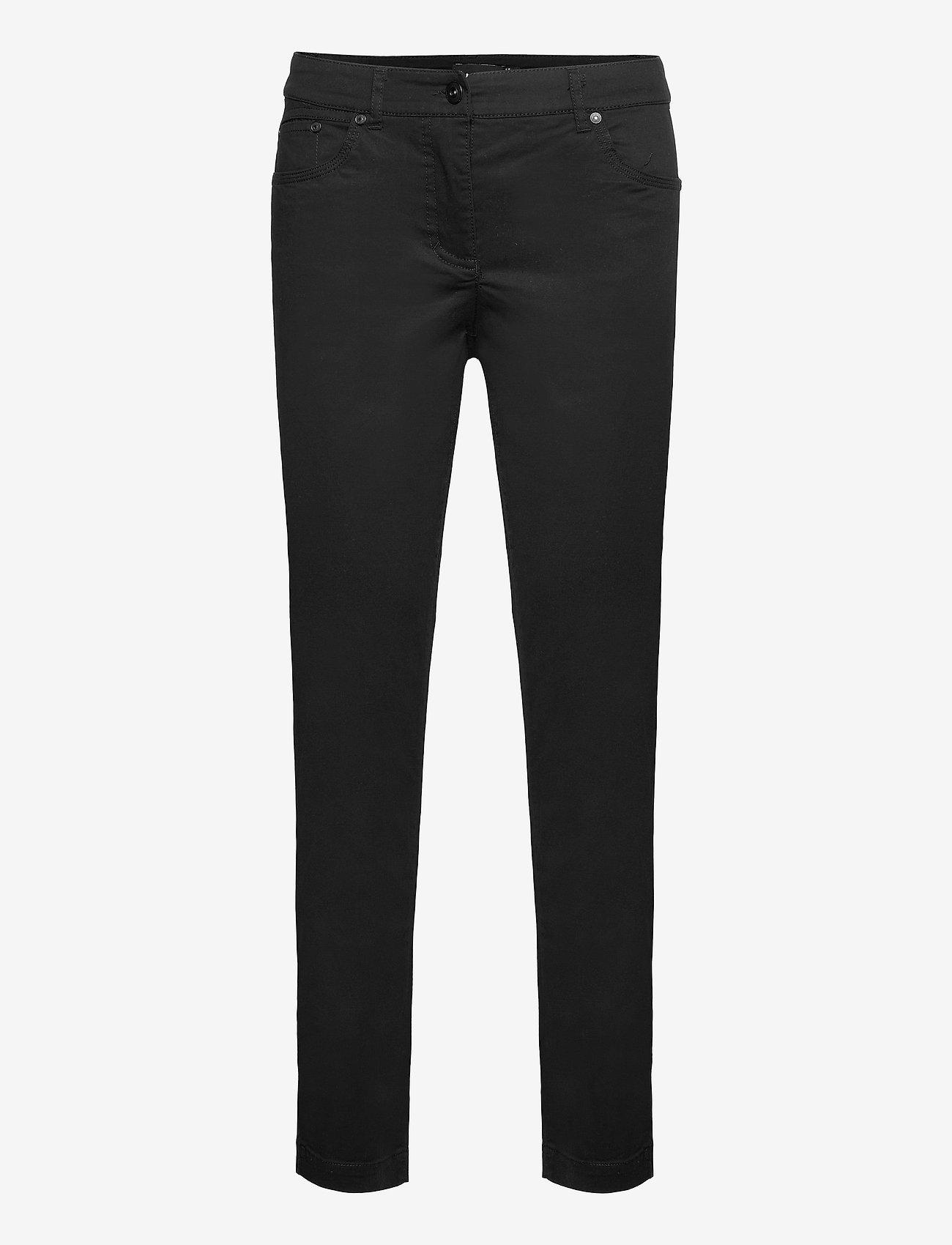Brandtex - Casual pants - slim fit bukser - black - 1