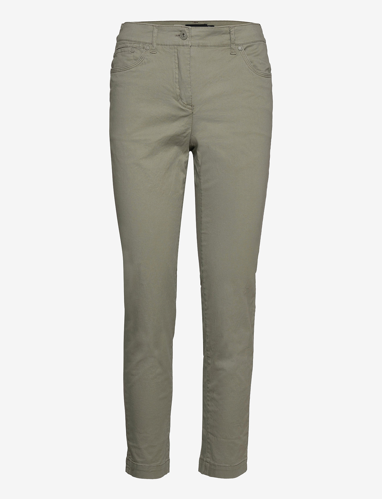 Brandtex - Casual pants - slim fit bukser - deep lichen green - 1