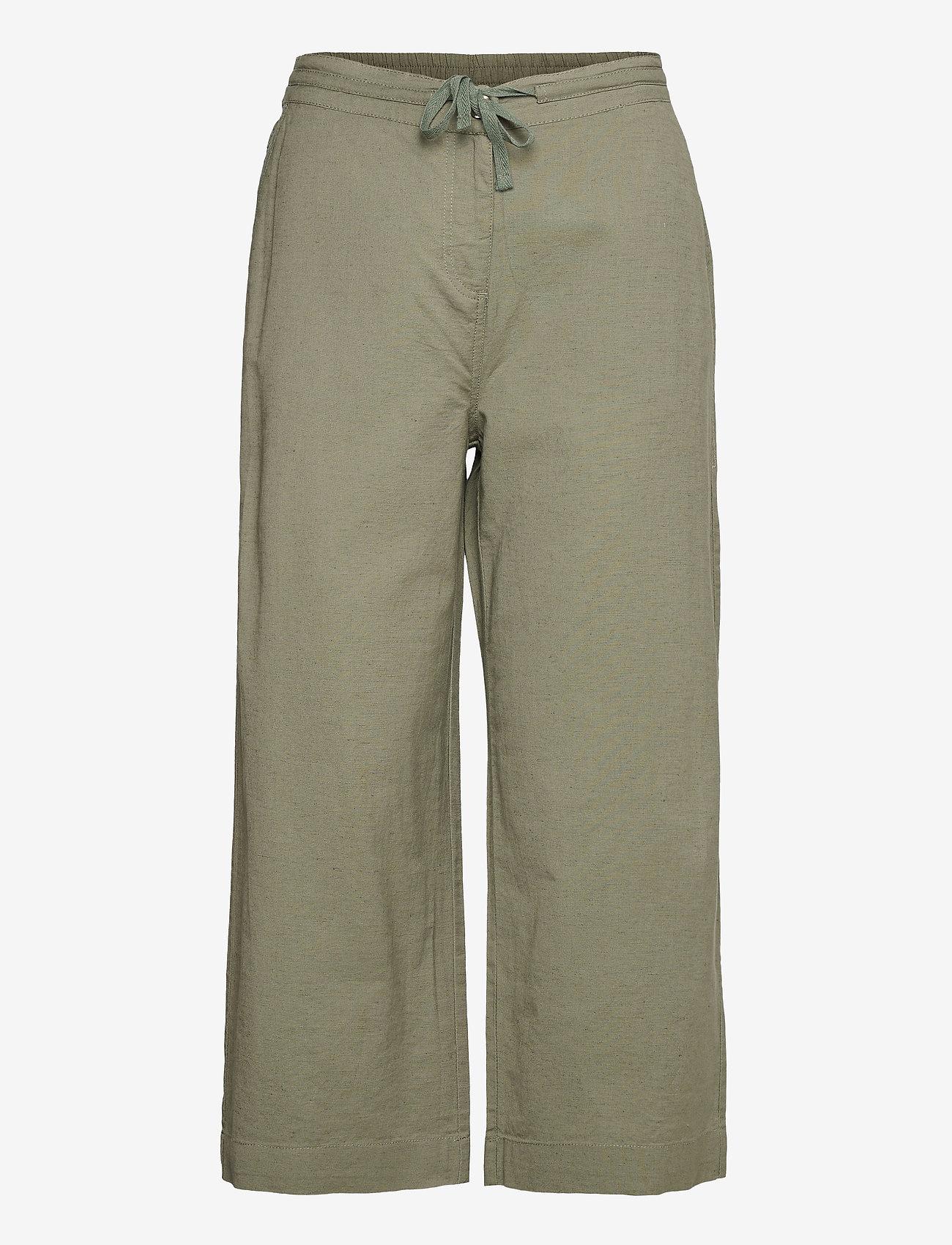 Brandtex - Capri pants - bukser med brede ben - deep lichen green - 1