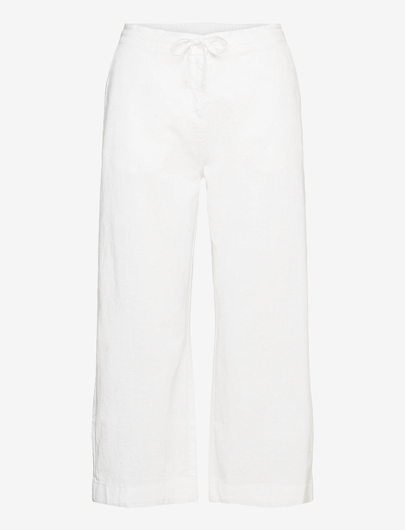 Brandtex - Capri pants - bukser med brede ben - white - 1