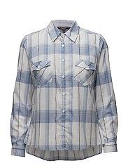 Shirt l/s Woven - COLONY BLUE