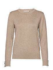 Pullover-knit Light - CAMEL MELANGE