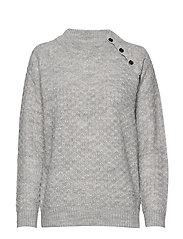 Pullover-knit Heavy - LIGHT GREY MELANGE