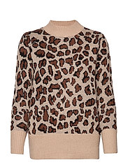 Pullover-knit Heavy - LEOPARD BROWN
