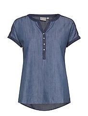 Blouse-woven - WASHED BLUE