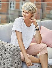 Brandtex - Capri pants - pantalons capri - white - 0