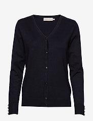 Brandtex - Cardigan-knit Light - cardigans - midnight blue - 0