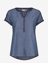 Brandtex - Blouse-woven - bluzki z krótkim rękawem - washed blue - 0