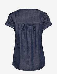 Brandtex - Blouse-woven - bluzki z krótkim rękawem - washed blue - 1