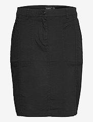 Brandtex - Casual skirt - midinederdele - black - 1