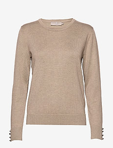 Pullover-knit Light - CAMEL MELANGE