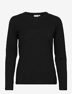 T-shirt l/s - långärmade toppar - black