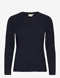 T-shirt l/s - langermede topper - midnight blue