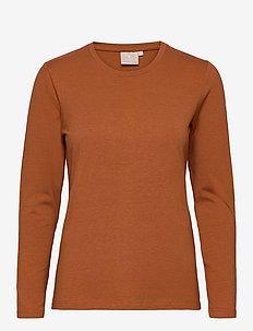 T-shirt l/s - langermede topper - mocha bisque
