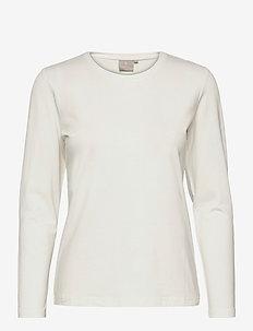 T-shirt l/s - langermede topper - offwhite