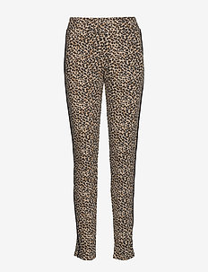 Pants-knitted - CAMEL