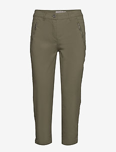 Capri pants - rette bukser - deep lichen green