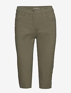 Capri pants - spodnie proste - deep lichen green