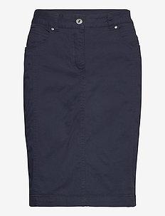 Casual skirt - do kolan & midi - midnight blue