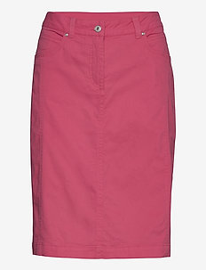 Casual skirt - midi skjørt - rouge red