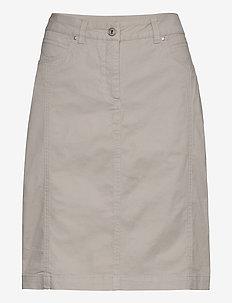 Casual skirt - do kolan & midi - sand