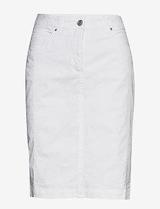 Casual skirt - do kolan & midi - white