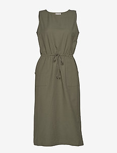 Casual dress - sukienki do kolan i midi - deep lichen green
