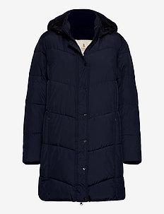 Coat Outerwear Heavy - wyściełane płaszcze - navy