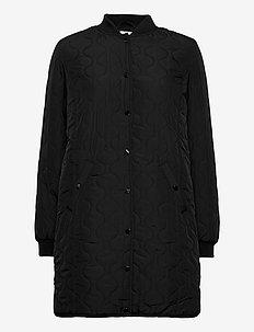 Coat Outerwear Light - pikowana - black