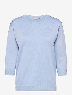 Pullover-knit Light - trøjer - serenity blue