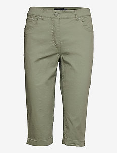 Capri pants - capri bukser - deep lichen green