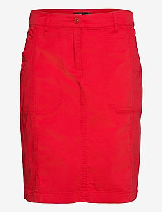 Casual skirt - midinederdele - racing red